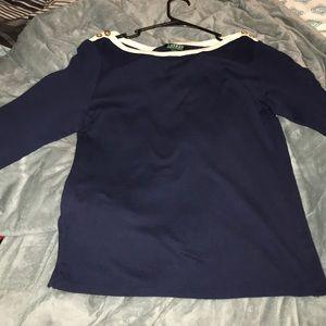 Ralph Lauren Half-Sleeved Navy Blue Shirt